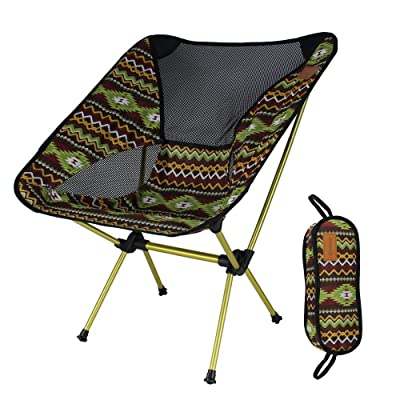Ultralight Portable Folding Camping Chairs, Portable Compact for Outdoor Camp, Travel, Beach, Picnic, Festival, Hiking, Lightweight Backpacking (Coffe) : Sports & Outdoors