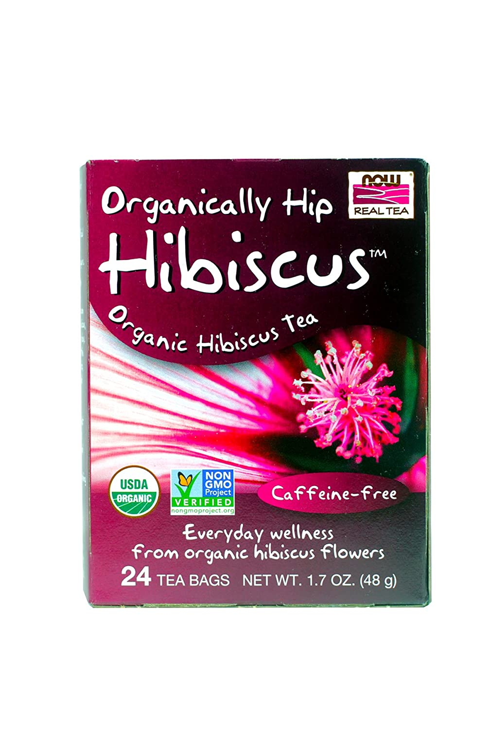 NOW Foods - Organically Hip Hibiscus 24 tea bags (Pack of 2)