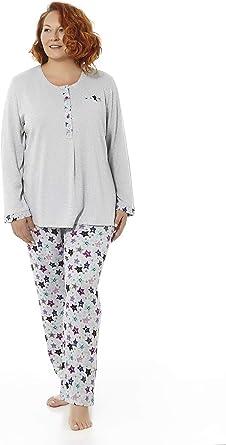 Mabel Intima Pijama Mujer Manga Larga Varios Tallas, Estampados y Colores. Tallas Grandes
