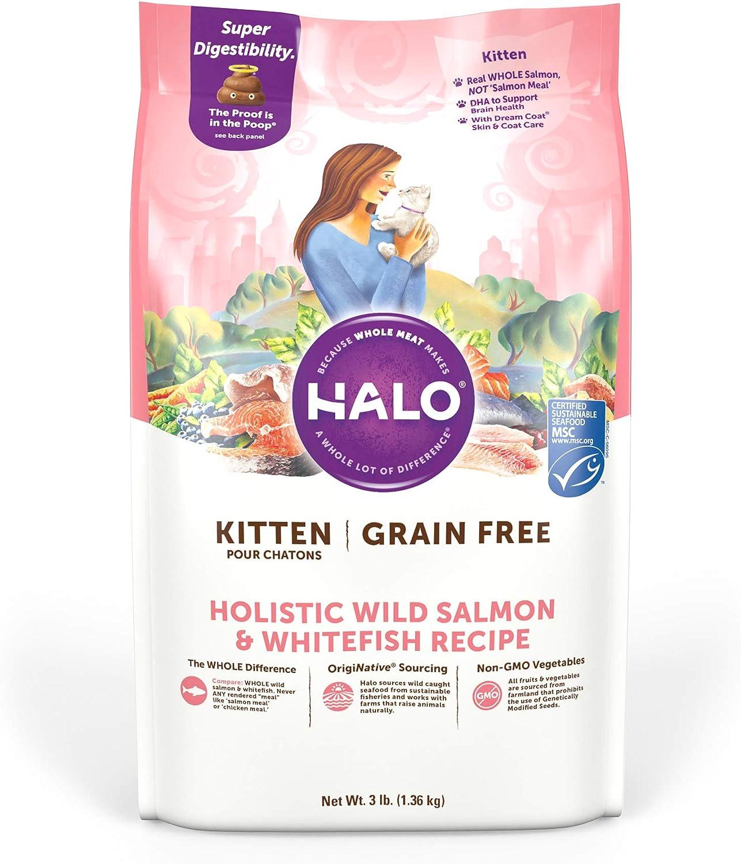 Halo Grain Free Natural Dry Cat Food, Kitten Recipe