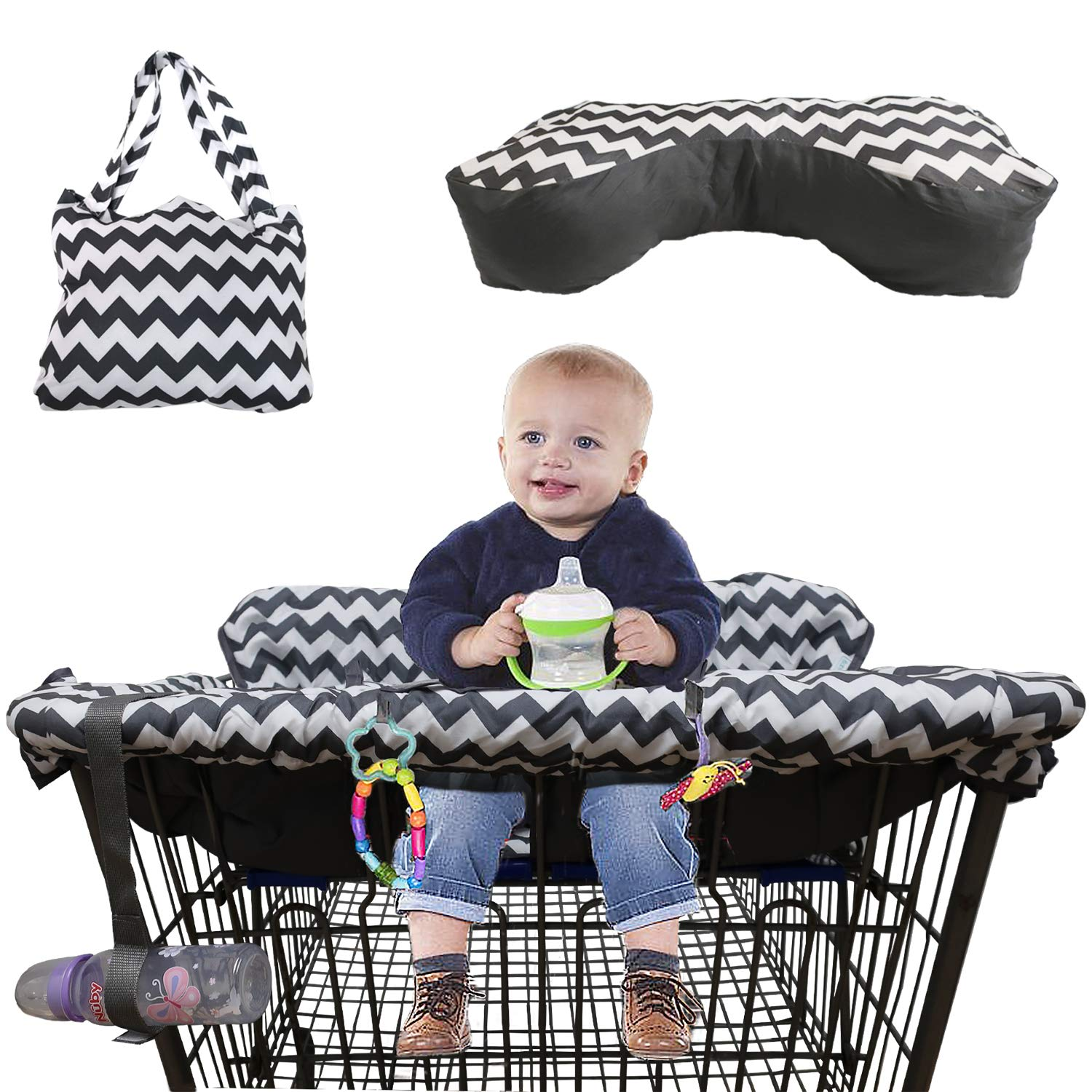 HEYJUDY Children Shopping Cart Cushion Includes Carry Bag Storage Bag for Children 6 Months to 3 Years Old