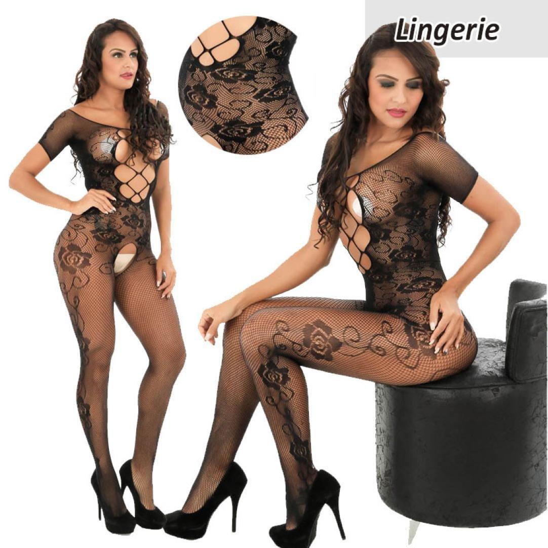 248500652f Amazon.com  Makaor Women Open Crotch Bodystockings