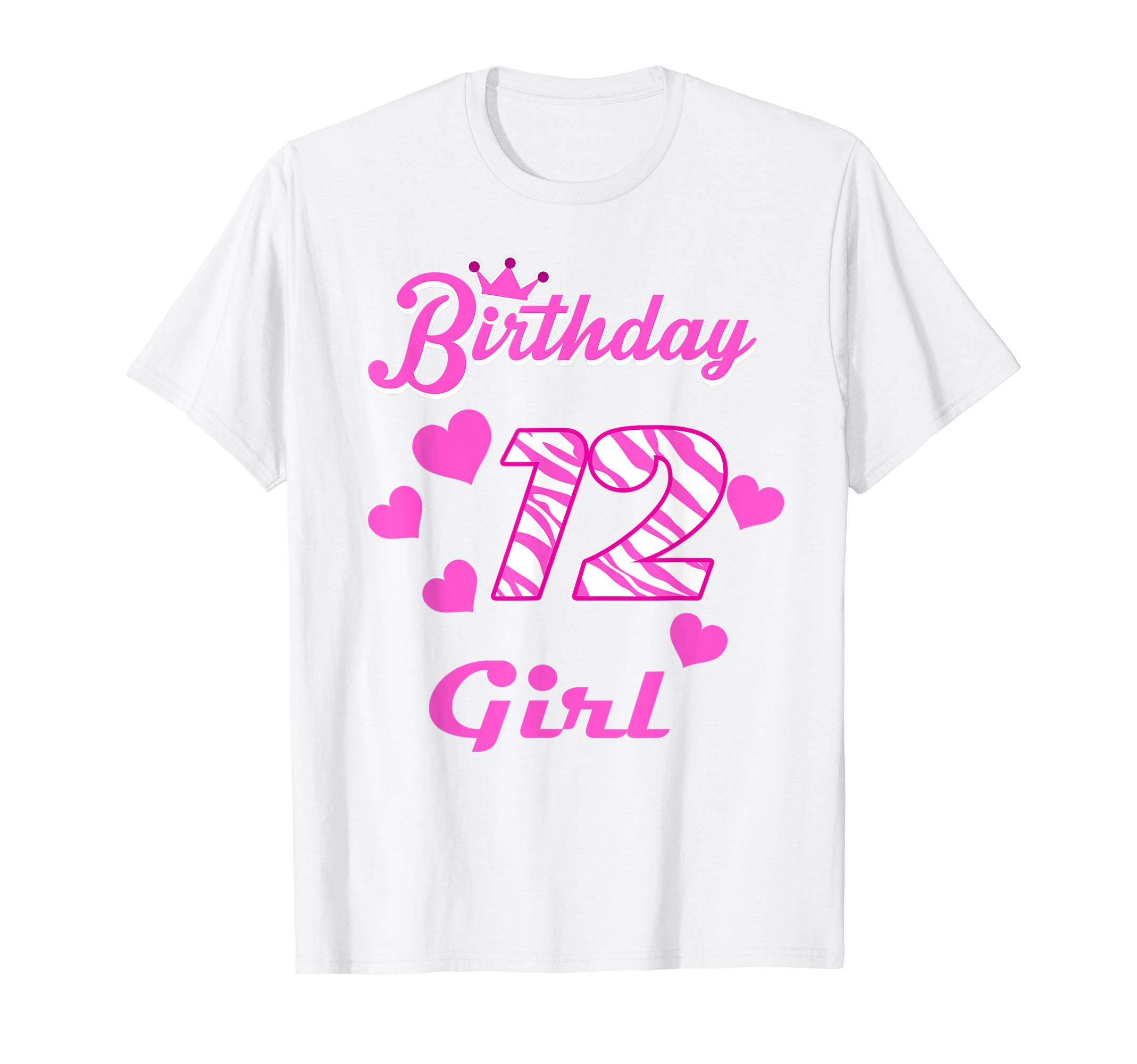 Happy Birthday Shirt Girls 12th Party 12 Years Old Bday