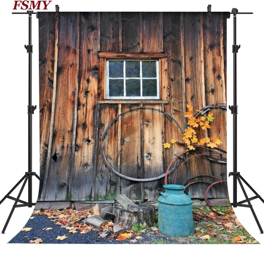 FSMY 5x7ft Vintage Rustic Barn Door Photography Backdrops, Customized Photo Background for Studio Props FOSHAN CO. LTD 147869563MWG