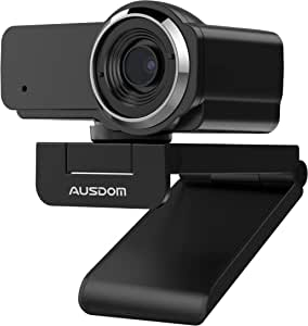Webcam 1080P with Microphone, AUSDOM AW635 Wide Angle USB Camera, Plug and Play, for PC Monitor Laptop, Video Calling/Recording, Live Streaming
