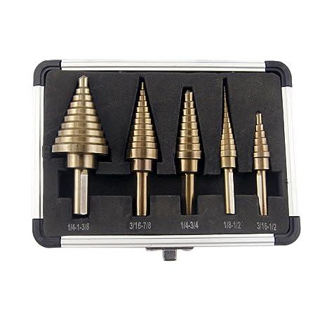 Co z 5pcs hss cobalt multiple hole 50 sizes step drill bit set with co z 5pcs hss cobalt multiple hole 50 sizes step drill bit set with aluminum keyboard keysfo Gallery