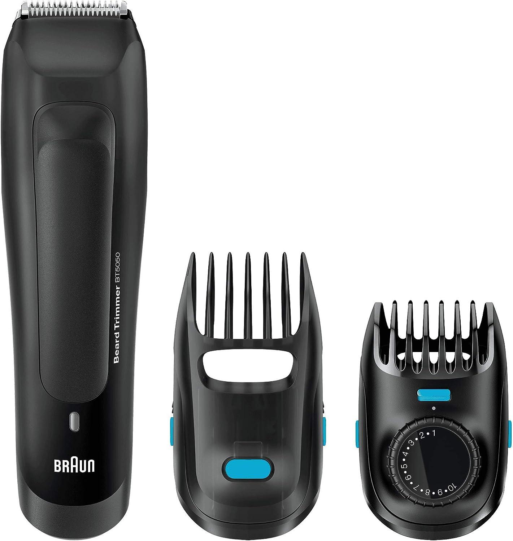 Braun BT5050 - Máquina Cortar Pelo, Recortadora Barba y Cortapelos, Corta Barbas Hombre Recargable de Precisión con Ajustes de Longitud Cada 0.5 mm, Negro