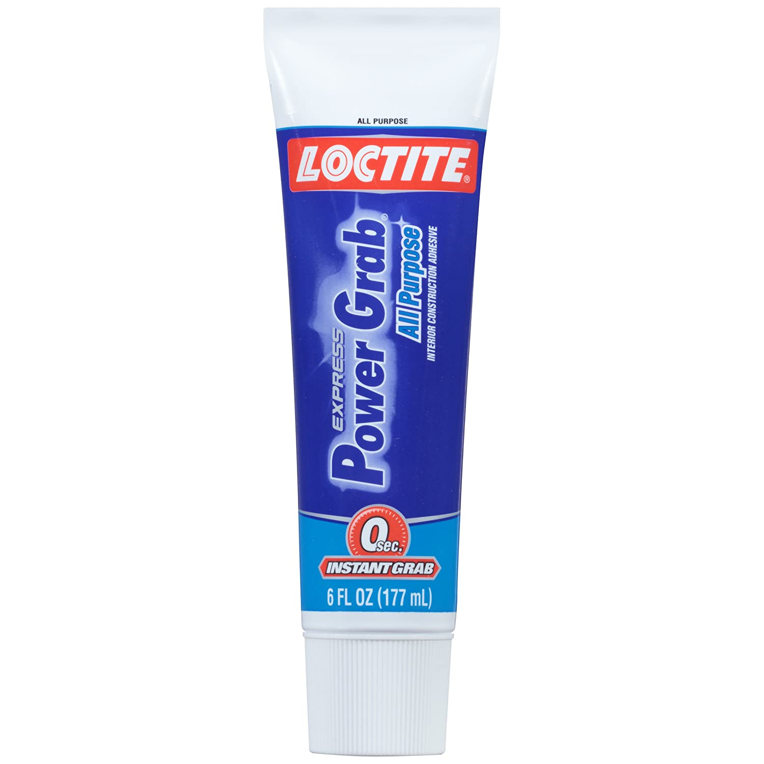 Loctite 2029846 Power Grab Express All-Purpose Construction Adhesive, 6 Oz Squeeze Tube