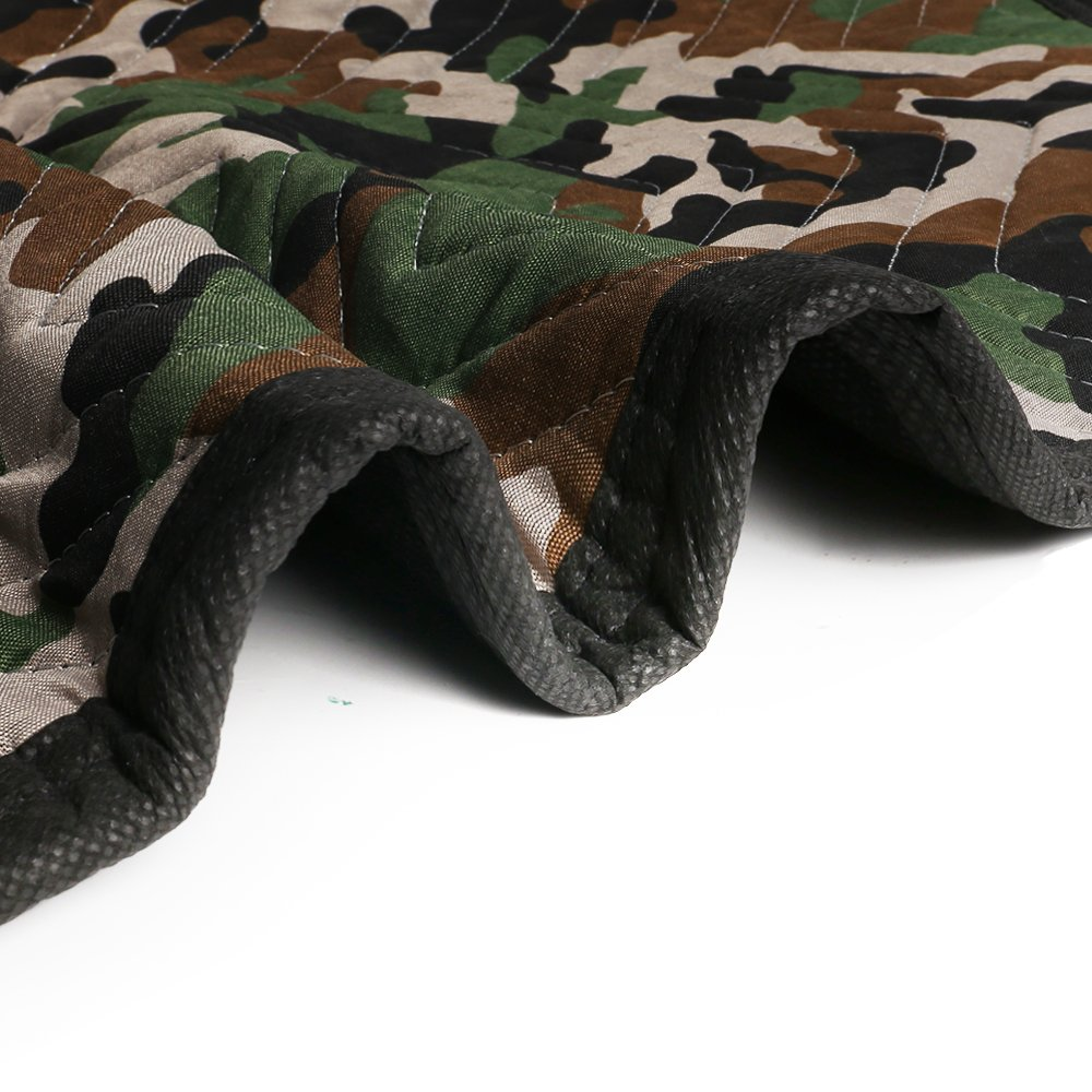 SOMIDE Luxury Camouflage Moving Blankets, Ultra Thick, Double Batting, Colorfast, 72'' x 80'', 5.8 Lbs/pc, Multi-Porpose for Pet Supplies, Sound Barrier, Hunting and Outdoor. by SOMIDE (Image #6)