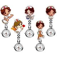 LANCARDO Reloj Médico de Bolsillo Colgante Enfermera Prendedor