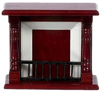 Mahagoni holz möbel  Puppenhaus Miniatur Maßstab 1:12 Holz Möbel Kleiner Mahagoni Kamin ...