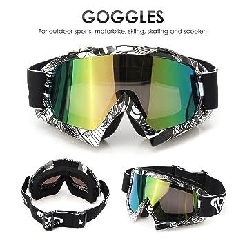 2a512384157bb AUDEW Lunettes de Ski Protection Masque de Visage pour Extérieur Activité  Moto Cross Google VTT Vélo