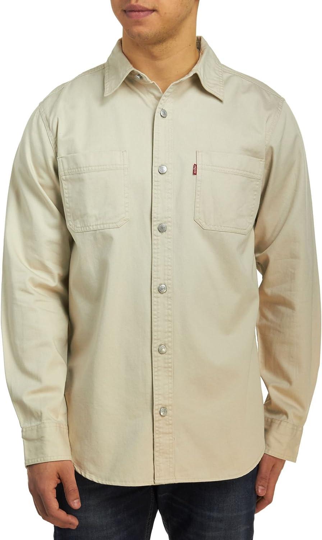 Levis Classic Denim Workshirt - Camisa de Trabajo para Hombre, Color Caqui: Amazon.es: Ropa y accesorios