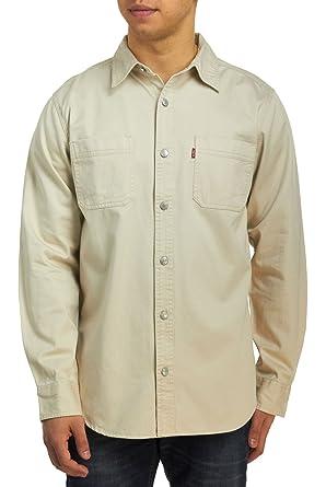 4ce74329ffd Levi s Men s Classic Denim Workshirt - Plaster Khaki at Amazon Men s  Clothing store