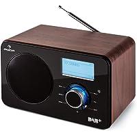 auna Worldwide • Internet radio • Wi-Fi network player • LCD • Remote control • MP3/USB/AUX • DAB/DAB+ • RDS • FM/AM receiver • Full range speaker • Alarm clock • Sleep timer • Wood veneer • brown