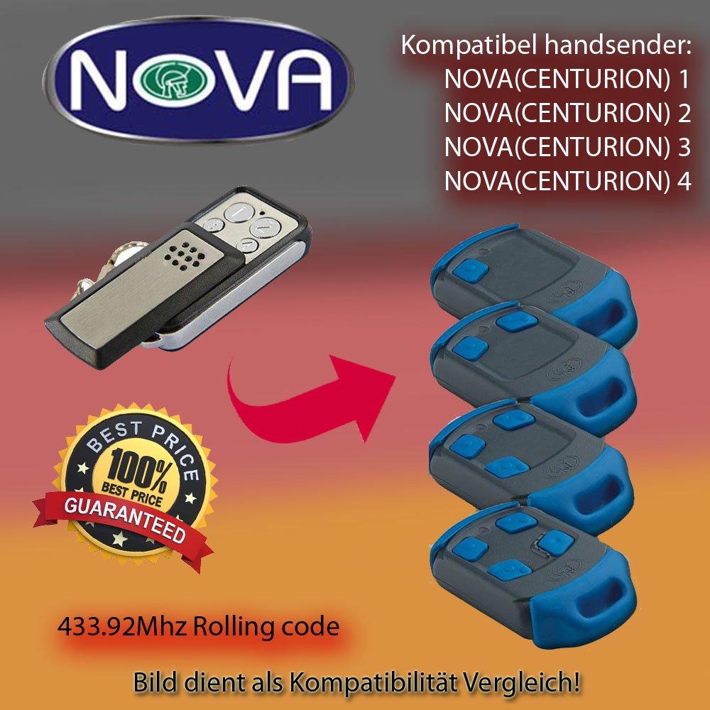 1,2,3,4/433.92/MHz compatible Transmisor de mando a distancia Nova Centurion