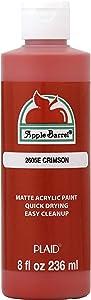 Apple Barrel Acrylic Paint in Assorted Colors (8 oz), K2605 Crimson
