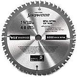 Kinswood Circular Saw Blade Metal Cutting Saw Finish Blade Cut Thin Kerf for DeWalt, Makita, SKIL, Bosch Skil, Heavy…