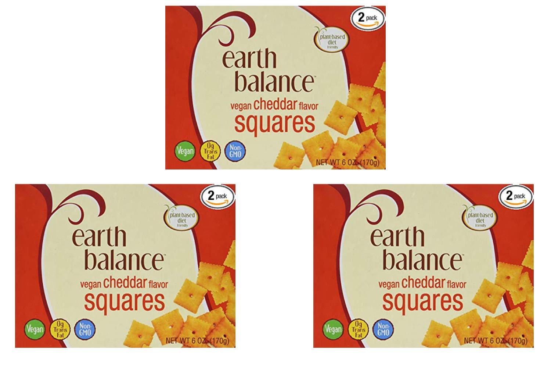 Earth Balance Vegan Cheddar Flavor Squares - 6 oz - 2 Count (3 Pack)
