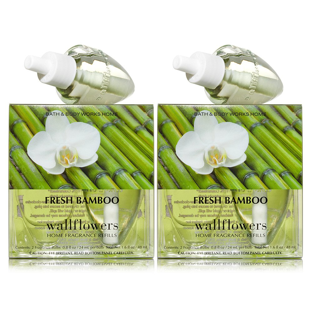 Bath and Body Works Wallflowers 4-Pack Refills (Fresh Bamboo)
