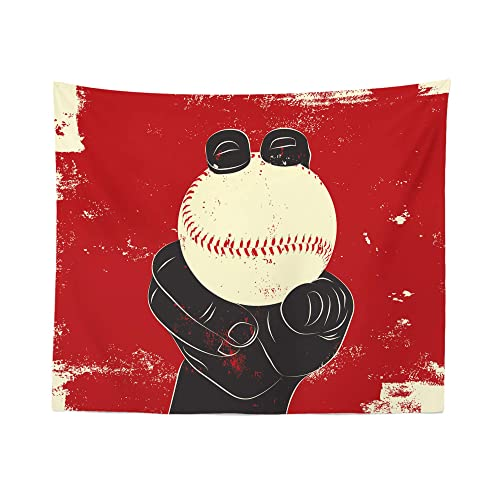 Baseball Tapestry Wall Hanging Fastball Ball Pitcher Tapestries Dorm Room Bedroom Decor Art – Printed in the USA – Small to Giant Sizes