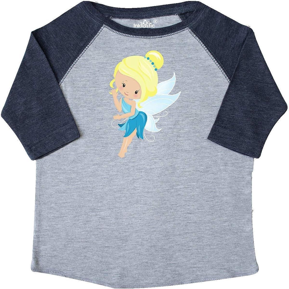 Fairy in Blue Dress Toddler T-Shirt Blonde Hair inktastic Cute Fairy