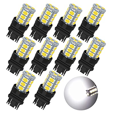GIVEDOUA 3157 LED Bulb Super Bright 18-SMD 5050 Chips 3056 3156 3057 4157 LED Bulb Replacement for Brake Lights,Pack of 10pcs: Automotive [5Bkhe1505488]