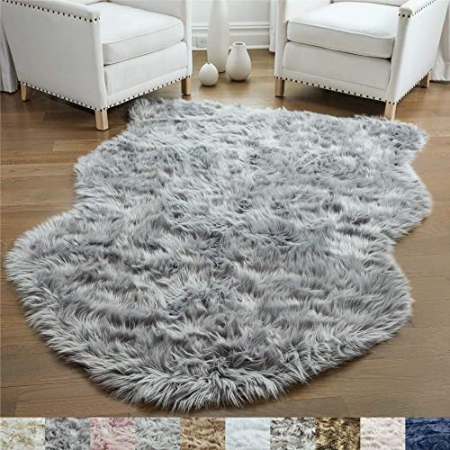 Gorilla Grip Original Premium Faux Sheepskin Fur Area Rug