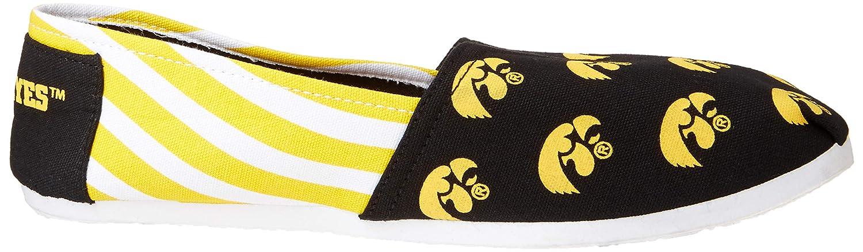 FOCO Iowa Hawkeyes NCAA Womens Stripe Canvas Shoes S