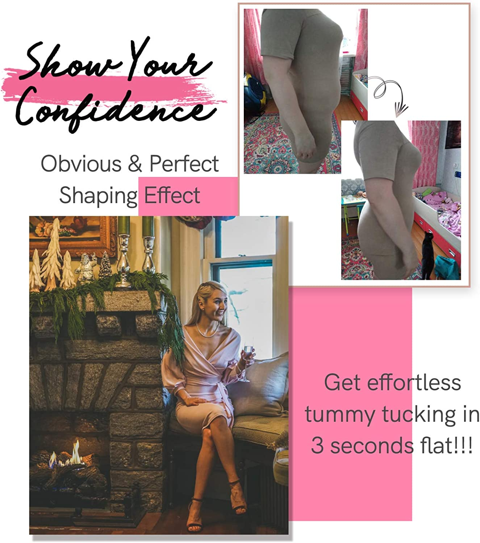 COMFREE Bodies Moldeadores Mujer Faja Reductora Adelgazante Body Shaper Lencer/ía Moldeadora Ajustable con Pierna L