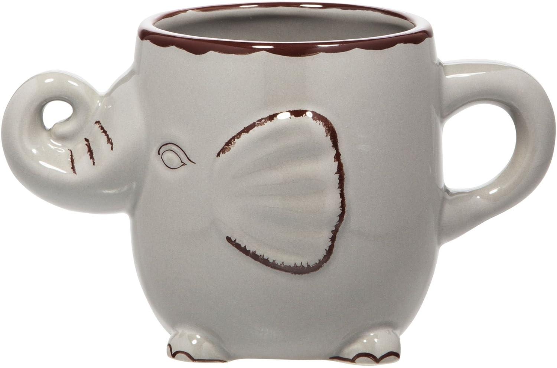 Home Essentials 62105 22 Oz Grey Elephant Coffee or Tea Mug