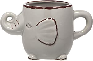 Home Essentials 62105 22 Oz Grey Elephant Coffee or Tea Mug