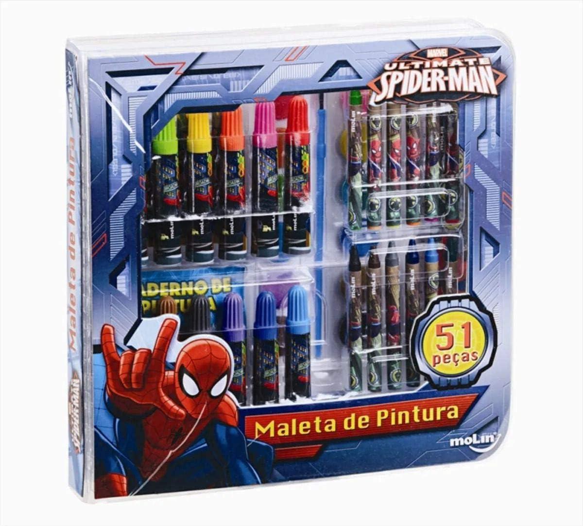 Maleta de Pintura Homem Aranha - Molin
