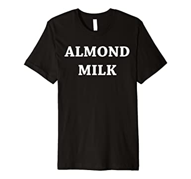 Mens Almond milk T-shirt - cool birthday gift for Almonds lovers 2XL Black