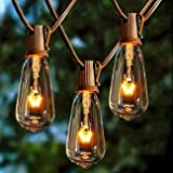 Afirst Outdoor String Lights 20FT with 22 Edison Bulbs Vintage Bistro Lights Waterproof ST40 String Lights for Patio Backyard