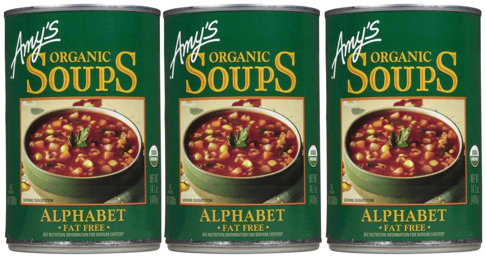 Amy's Organic Alphabet Soup - 14.1 OZ - 3 pk