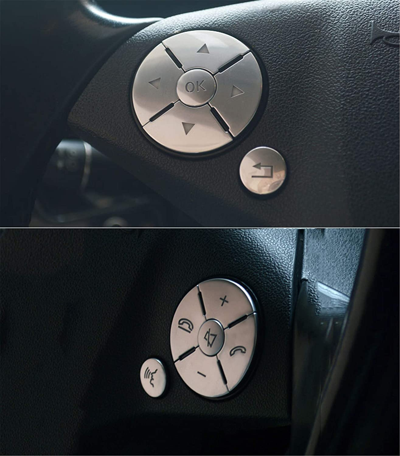 Steering Wheel Button Switch Trim Cover Sticker-ons for Mercedes-benz A B S CLA C117 SL GLA X156 GLE Class GLS//SLC CLS Class