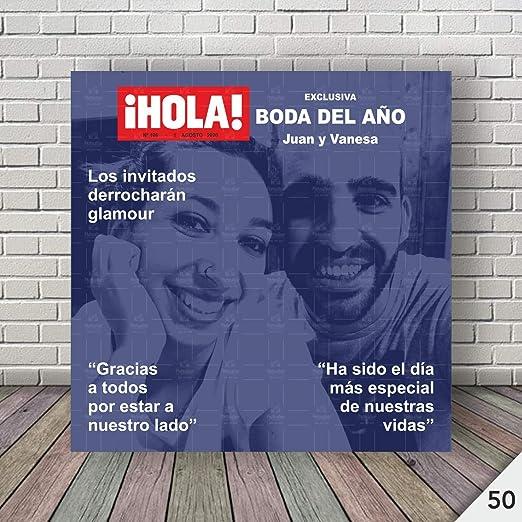 Photocall completo de BODA, Personalizado Fabricado en España en impresión Fotográfica | Incluye SOPORTE de fácil colocación | Ref. BODA50 (160X200 CM): Amazon.es: Hogar