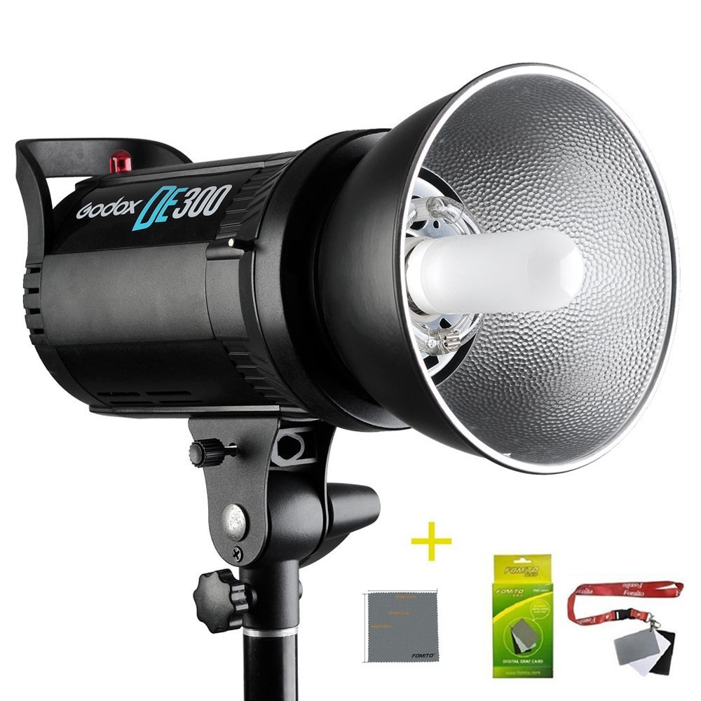 Fomito Godox DE300 300W Compact Studio Flash Light Strobe Lighting Lamp Head 110V 300ws