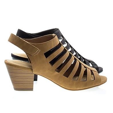 c6d254701c4 City Classified Anakin TanNb Comfort Foam Pad T-Strap Cage Dress Sandal