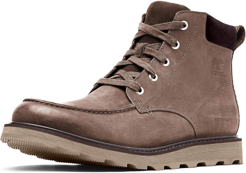 Mens Madson Moc Toe Waterproof Leather Boots SOREL
