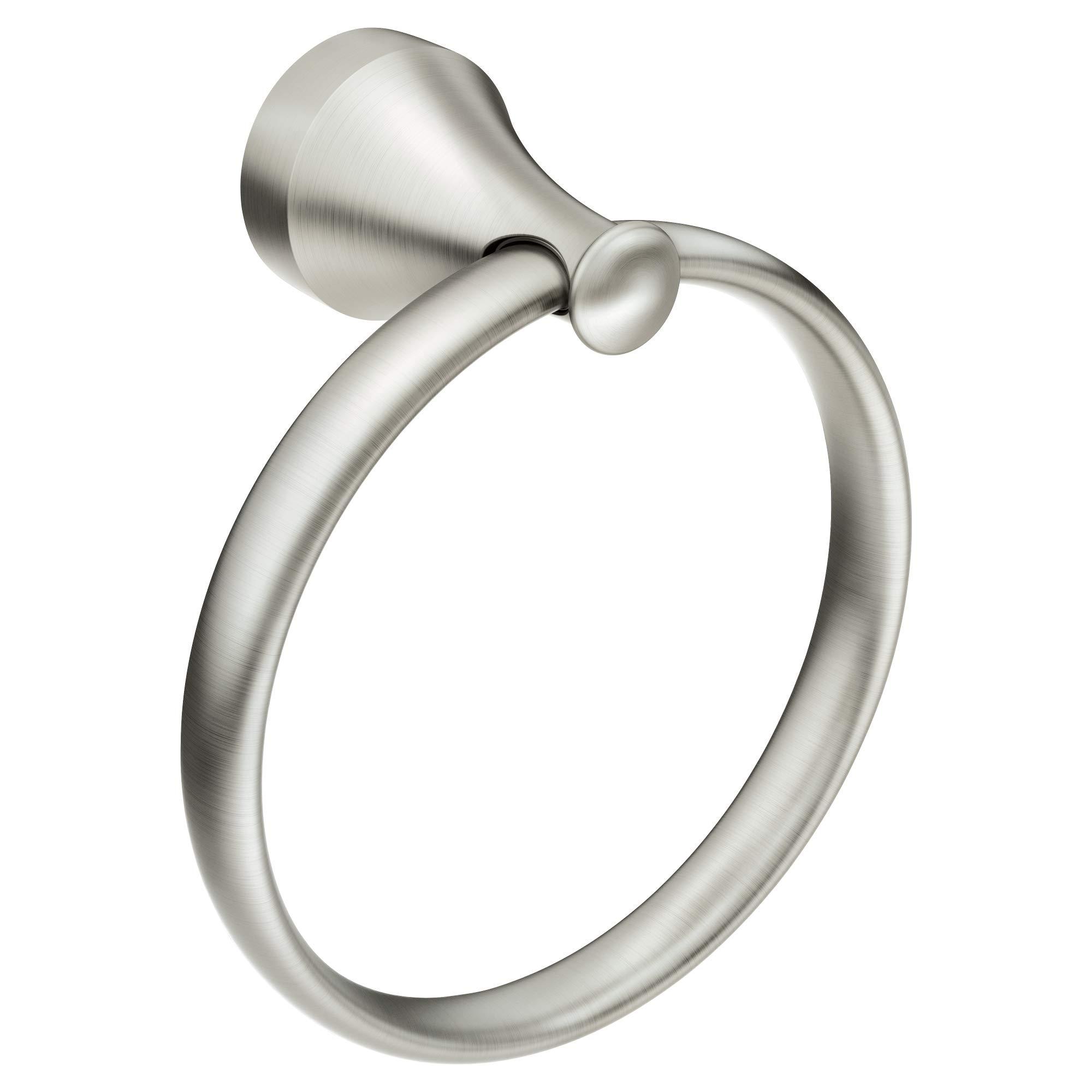 Moen MY6286BN Hamden Hand Towel Ring, Brushed Nickel