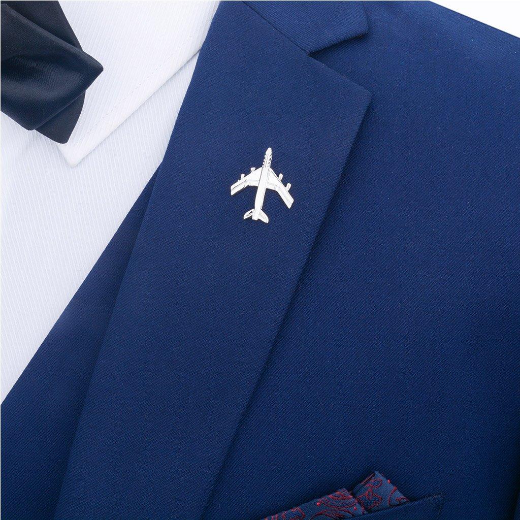 Broche Homme//Femme Argent Avion Accessoire Bijoux Bon Design