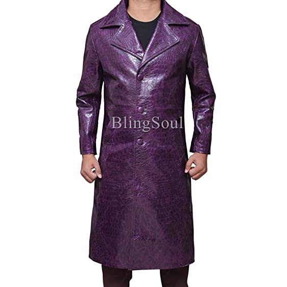 Amazon.com: Purple Joker Long Trench Coat: Clothing