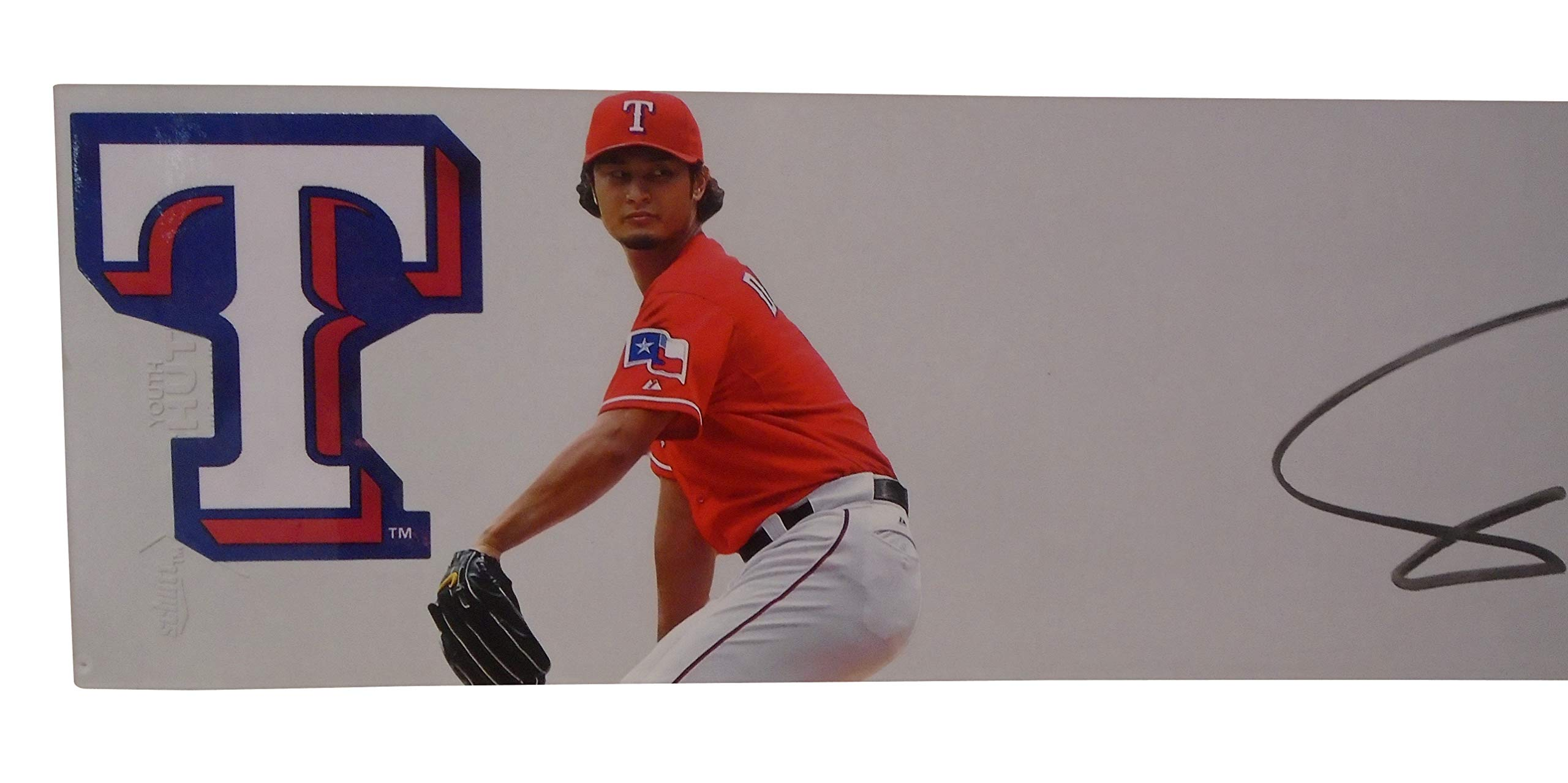 Texas Rangers Yu Darvish Autographed Hand Signed Photo Schutt Baseball Pitching Rubber with Proof Photo of Signing and COA, Hokkaido Nippon Ham Fighters