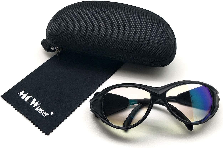 MCWlaser Gafas Protectoras de Seguridad con láser de CO2 Gafas 1064 NM Tipo Reflectante Gafas con láser de CO2 para Fibra Marcado láser Corte Instrumento de Tratamiento de Belleza EP-24