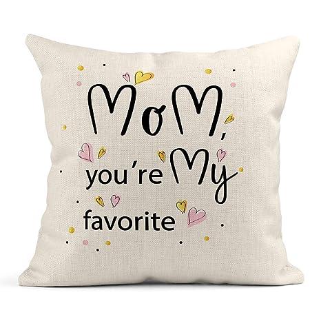 Kinhevao Cojín Amor Mamá Eres mi Frase de motivación ...