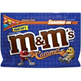 M&M's Caramel Chocolate Candy Sharing Size 9.6-Ounce Bag (Pack of 8)