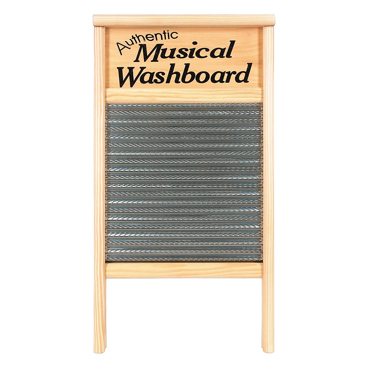 Columbus Washboard 2072-MS Authentic Musical Stainless Washboard Pine 12-7/16x23-3/4 Inches 12-7/16x23-3/4