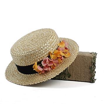 Ozigwpa3- Boater hat. Straw hat. Flower boater hat. Spring hat ... 908dfa1323f